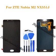 Pantalla AMOLED de 5,5 pulgadas para ZTE Nubia M2 NX551J LCD + MONTAJE DE digitalizador con pantalla táctil para ZTE Nubia M 2, piezas de reparación de pantalla