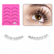 903373beac2 5 Pairs Natural Handmade Under Lashes False Eyelashes Makeup Soft Long Cross  Lower Bottom Fake Eye