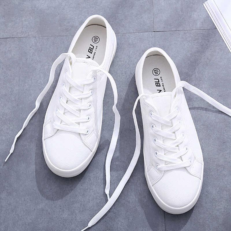 فلكنيز الصيف أحذية رياضية النساء المدربين الأبيض أحذية جلدية و حذاء قماش الكلاسيكية تنيس Feminino القطن عادية Zapatos موهير