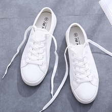 Vulcanize Summer Sneakers Women Trainers White Sneakers Leather&Canvas
