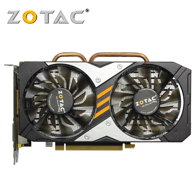 ZOTAC оригинальная видеокарта GPU GTX 960 4GD5 128 бит GDDR5 видеокарты GM206 PCI-E для NVIDIA карта GeForce GTX960 4 Гб Разрушители