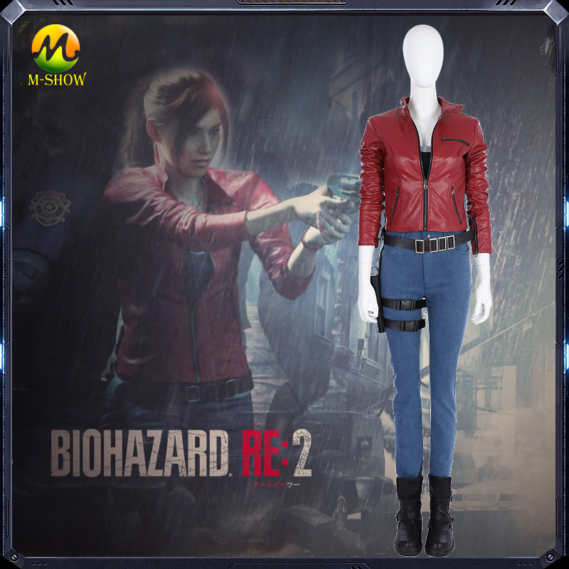 New Game Resident Evil 2 Claire Cosplay Costume Adult Women Character Cosplay Costume Full Set For Halloween Party
