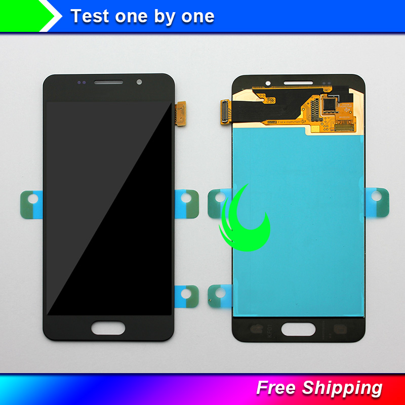 Original Super <font><b>AMOLED</b></font> For Samsung Galaxy A3 2016 A310 <font><b>A310F</b></font> SM-<font><b>A310F</b></font> LCD <font><b>Display</b></font> Touch Screen Digitizer Assembly For A310 LCD image