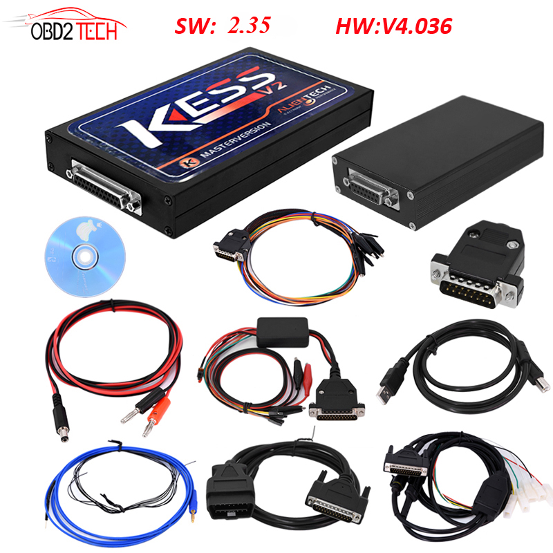 Newest v2.35 KESS V2 OBD2 Manager Tuning Kit unlimited tokens Kess V2 Master FW V4.036 get ECM TITANIUM free 2017 newest ktag v2 13 firmware v6 070 ecu multi languages programming tool ktag master version no tokens limited free shipping