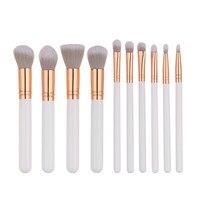 KESMALL 10Pcs Lot Portable Face Makeup Brush Set High Quality Brushes Multifunction Beauty Tool Kits Pennello