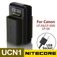 Nitecore ucn1 캐논 eos LP-E6 LP-E6N LP-E8 배터리 용 디지털 usb 충전기 eos 5d mark ii iii 5ds r 6d 60d 60da 7d 70d xcio