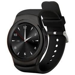 Montre intelligente Bluetooth ronde Sport Smartwatch carte SIM moniteur de fréquence cardiaque pour iPhone 4 S/5/6 S Samsung S4/Note/S7 téléphone PK LEM3 AN1