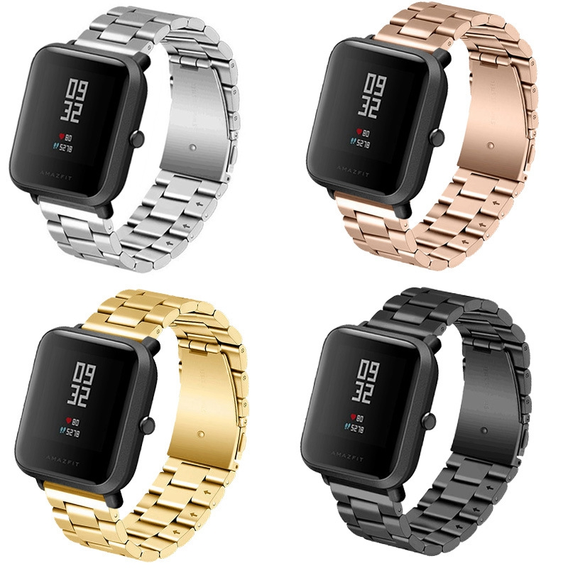jansin Replacement Metal Strap For Xiaomi Huami Amazfit Bip BIT PACE Lite Youth Smart Watch Wearable Wrist Bracelet Watchband