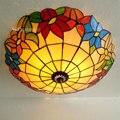 Светлый цветок красивый Европейский Средиземноморский свет потолочное освещение LED шкафчик для спальни коридорные светильники для спальн...