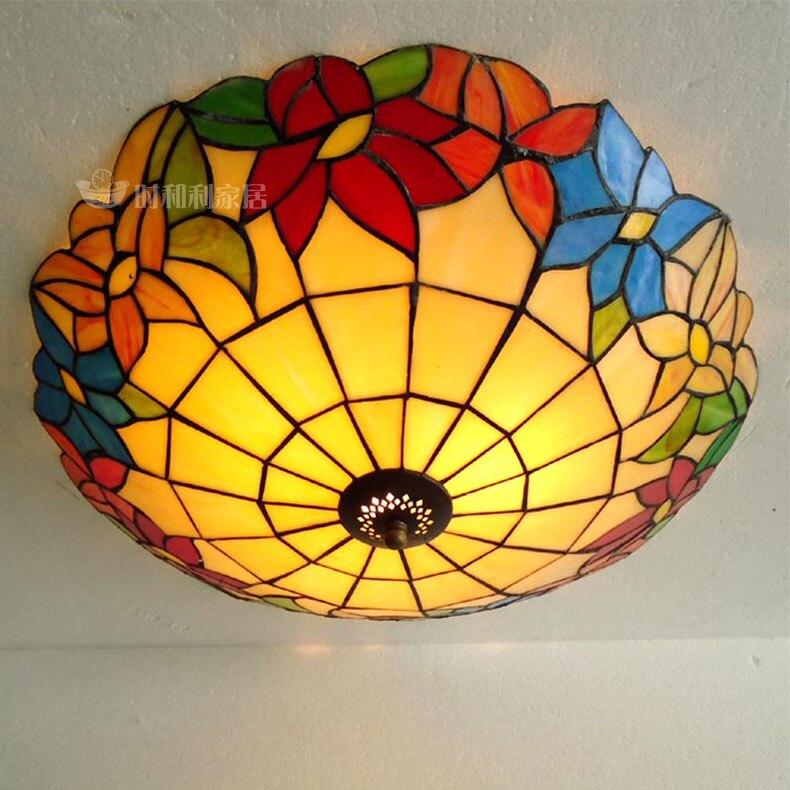 light flower beautiful European Mediterranean light ceiling lighting LED bedroom locker corridor balcony bedroom lamps DF40