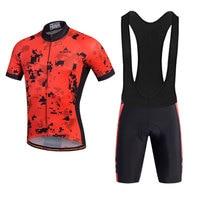 Specialized Men Cycling Sets Bib Shorts Sport Short Sleeve Cycling Mountain Bike Clothing 2017 New Gules
