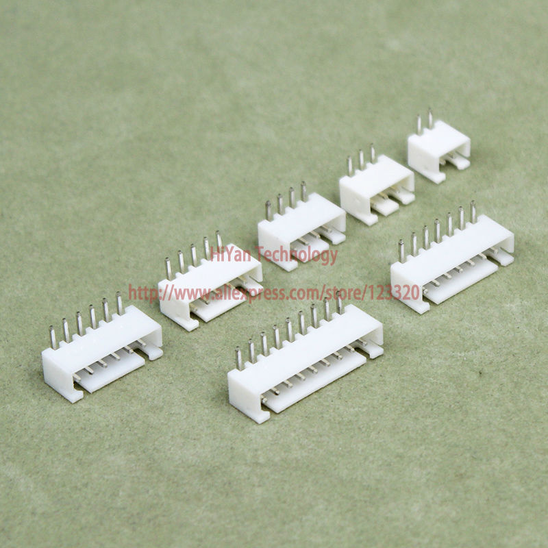 Connector XH2.54 90degrees Pitch:2.54MM 0.1inch Pin Header XH2.54 2AW 3AW 4AW 5AW 6AW 7A ...