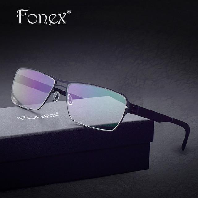 Germany Design no screw Brand Eyeglasses ic Optical Frames Men Ultra Light Thin Elastic Glasses Myopia Prescription Ber Eyewear
