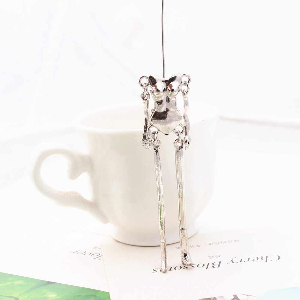 12 шт./партия, Кукольное ожерелье, металлический корпус, скелет, сплав, телесный, сделай сам, ювелирные изделия, аксессуары для женщин, рождественский подарок 11,5x1,8 см