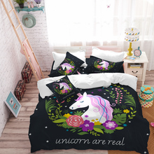 Unicorn Bedding Set Star Cartoon Duvet Cover Pillow Cases Twin Full Queen King Super Size Kids Bedclothes Bed