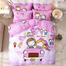 Bedding Set Queen King Size ,double single Duvet Cover 3/4 Pcs linens USA Russia Size, 1pcs And 1 Bed Sheet