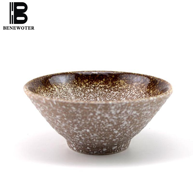 5.3 inch Japanese Style Ceramic Bowl Vintage Home Tableware Ramen Bowls Fruit Salad Mixing Bowls Soup Rice Container Food Holder