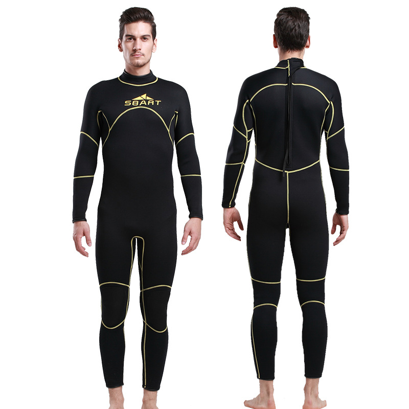 Sbart 3MM Surfing Wetsuit Warm WinterOne-piece Male Long Sleeved Thickened Jellyfish Snorkeling Suit Swimming Wetsuit for Men sbart upf50 806 xuancai