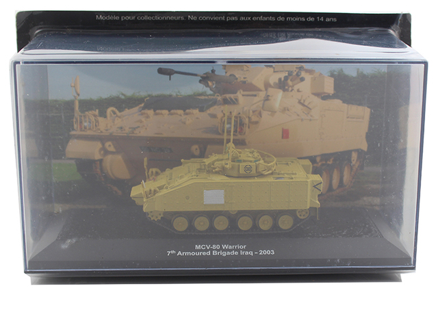 IXO 1/72 MCV-80 British Army Infantry Fighting Vehicle 7th Panzer Division Alloy collection model Holiday gift
