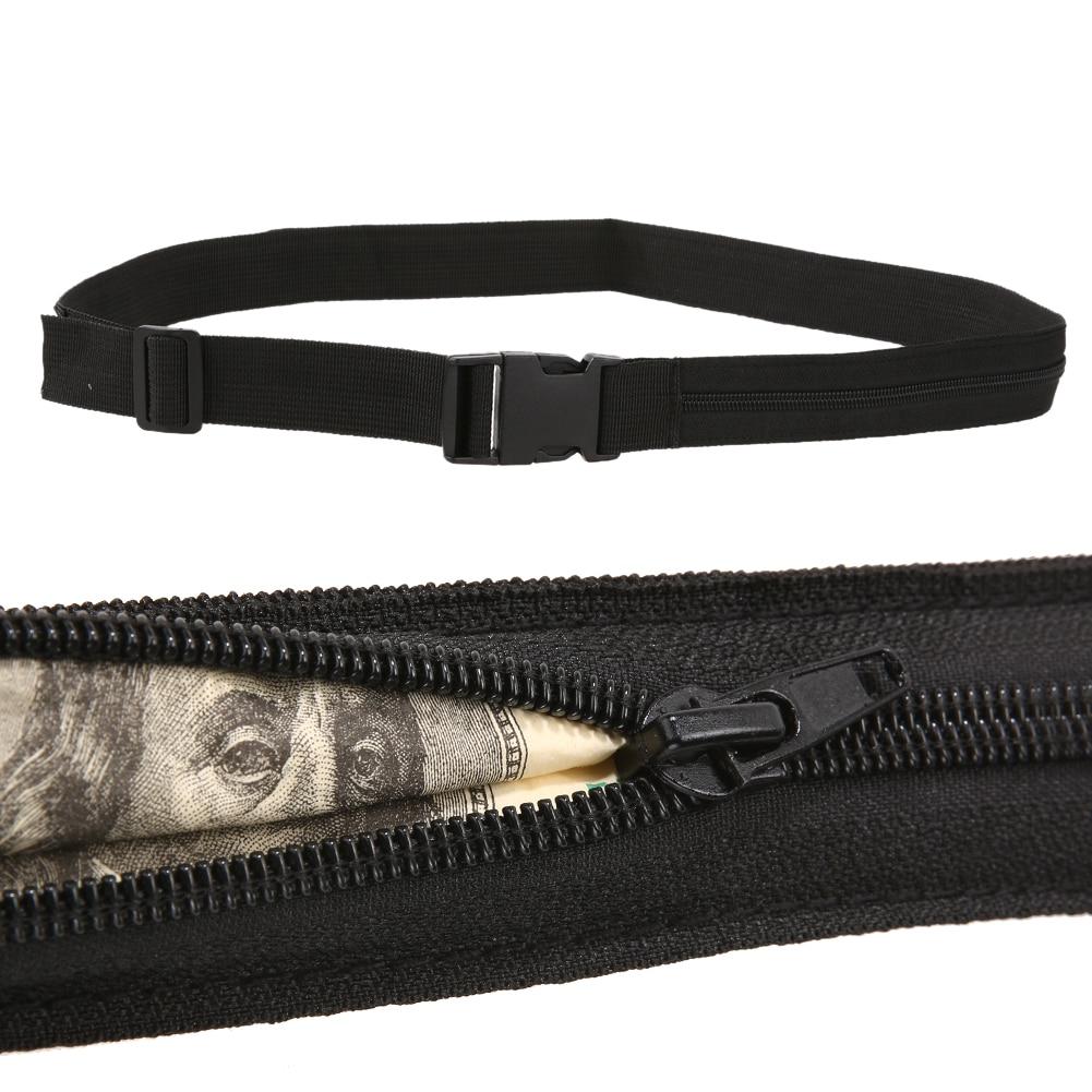Multifunction Secret Pocket Belt Money Cash Protect Security Zip Pocket Outdoor Travel Emergency Waist Tie Belt Tool