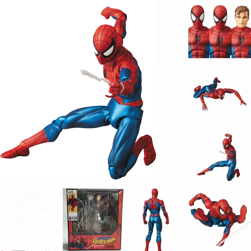 "6/"" Spider-Man Avengers 4 Comic Ver Action Figure Mafex MAF075 Gift Collection"