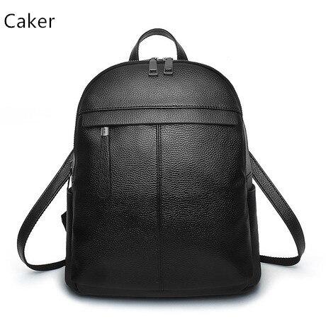 Caker Brand 2017 Fashion Women Top PU Backpack Female Black Blue Red Pink Vintage Backpacks School