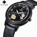 2016 новое поступление брендовый циферблат с бабочкой relogio feminino кварцевые часы кожаные женские повседневные часы женские часы