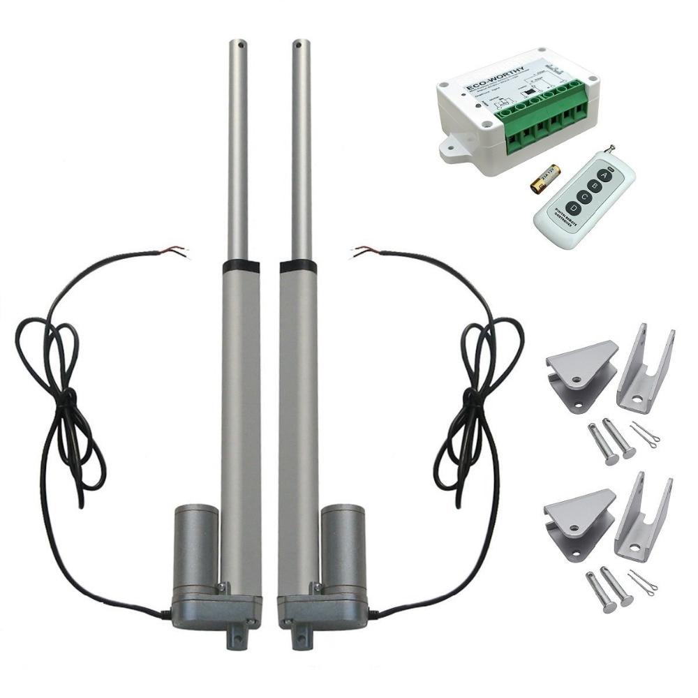2 pz 10 Pollice Heavy Duty Motore 1500N Attuatore Lineare 12 V + Wireless Kit Telecomando + Staffe di Montaggio