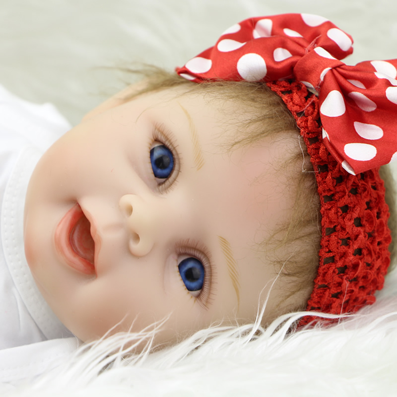 Reborn Realistic Baby Dolls Lifelike 22 Inch Silicone Vinyl Soft Alive Doll For Girls Playmate Sleeping Baby Toy 23 inch full silicone vinyl bebe reborn baby dolls lifelike princess girl handmade toy realistic doll baby alive christmas gift