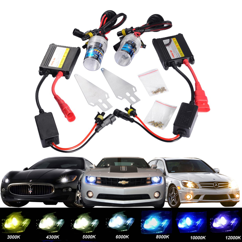 1 set SLIM Ballast XENON Headlight HID KIT 12V 35W  H1 H3 H7 H8 H9 H11 HB3 HB4 9005 9006 880/881 H27 4300K 6000K 8000K 55w silver hid xenon kit slim ballast 880 4300k replacement headlight new [cpa248]