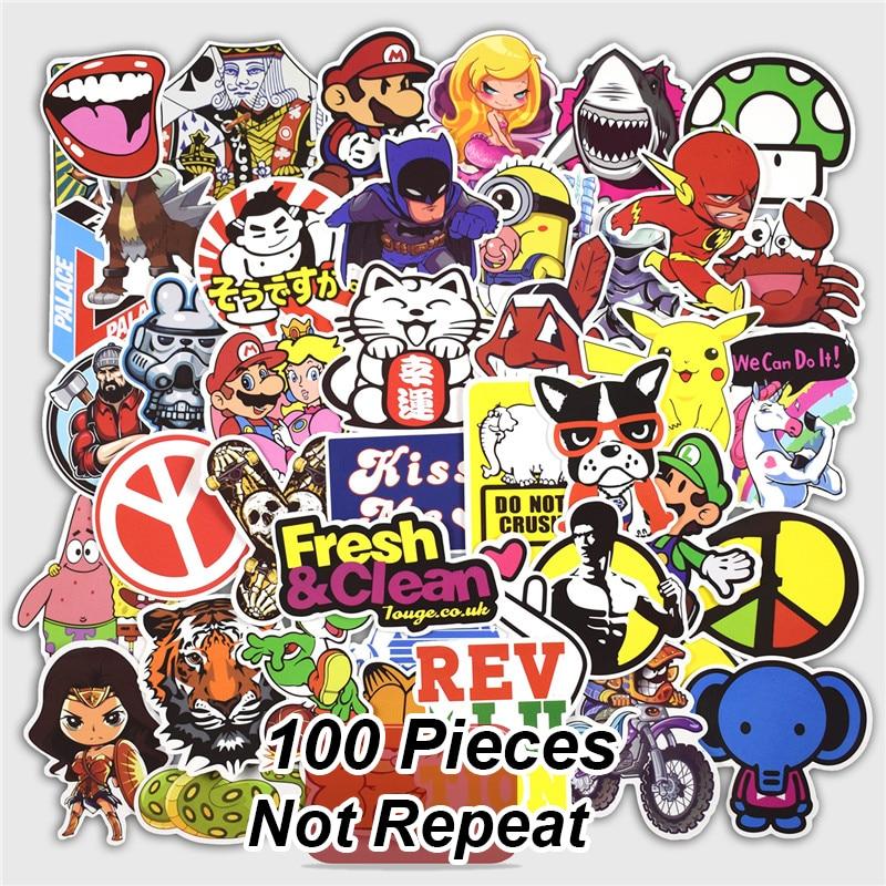 100 قطع مختلطة كتابات ملصقات لل محمول - اللعب الكلاسيكية