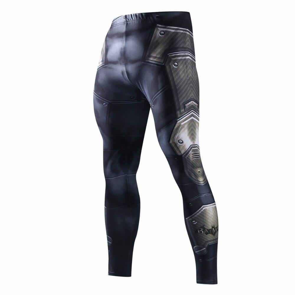 Moletom Skinny Para Homens Calças De Compressão Homens Moda Leggings Homens Basculador Homens Calças de Fitness Superman ElasticTrousers 3D