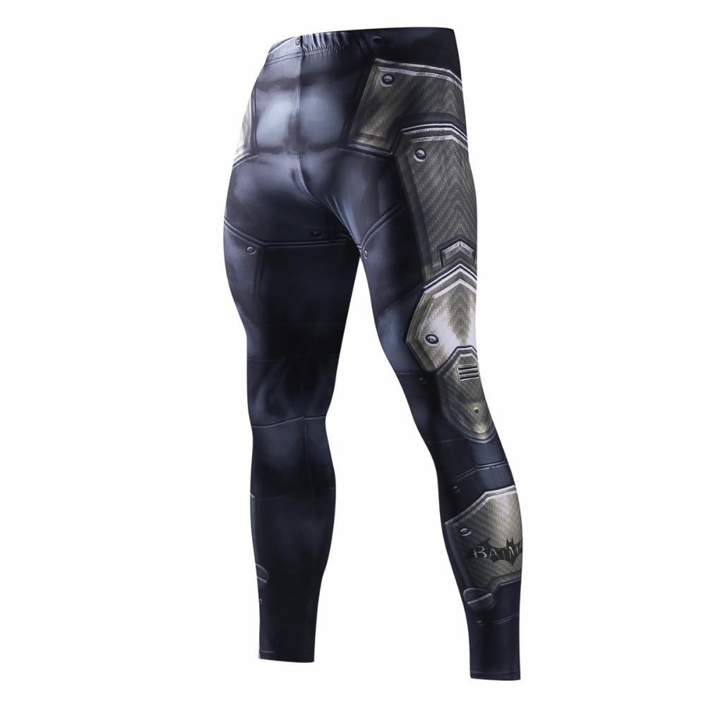 Skinny pantalones para los hombres de pantalones de los hombres de moda Leggings Jogger Men 3D Fitness pantalones Superman ElasticTrousers