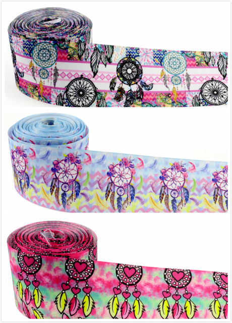2 50mm Dreamcatcher Printed Grosgrain Ribbon Gift Accessories