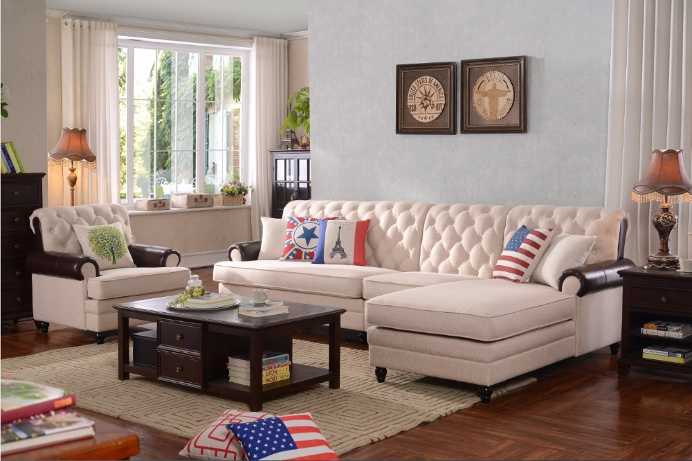 Armchair Rushed Sectional Sofa Genuine Leather Set Bean ...