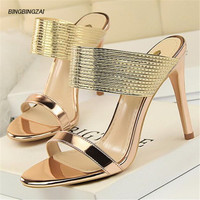 ladies shoes brighten feminino 10CM high heel Wedding Shoes Office Patent LeatherFour season high quality Women SM Shoes Plus 34