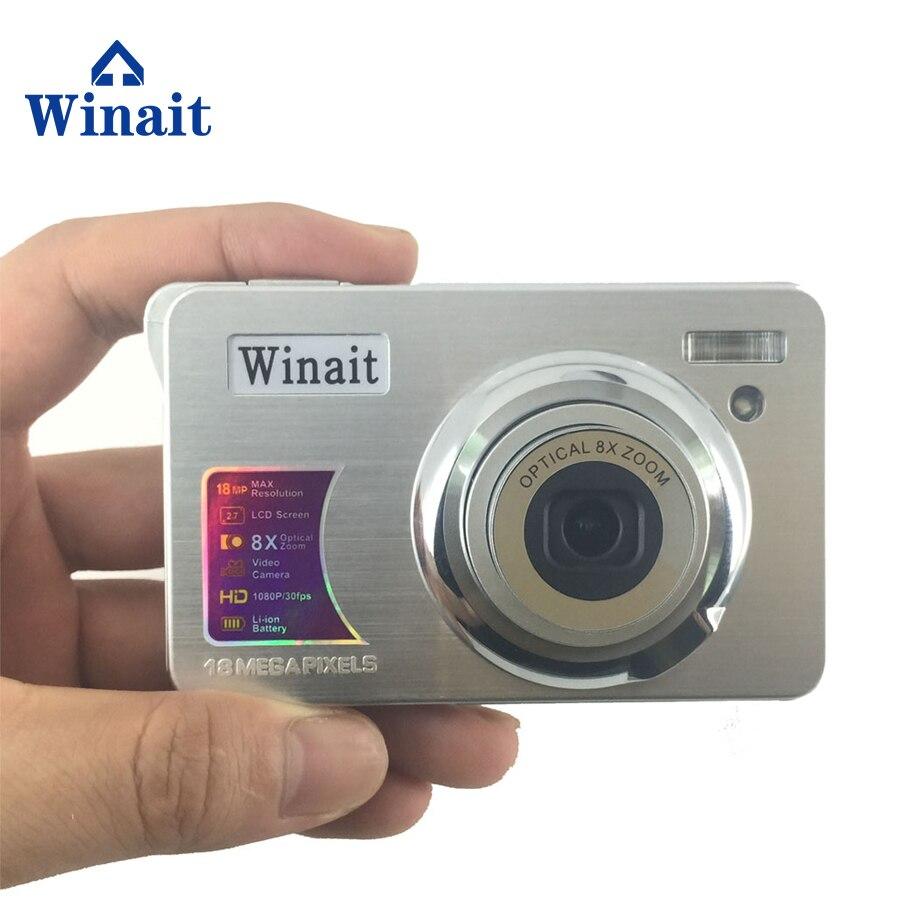 Winait 15 Mega pixels digital compact camera 3x optical zoom and 2.7'' TFT display digital video camera free shipping