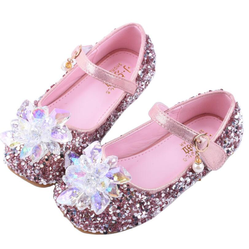 New Autumn Baby Girl Fashion Butterfly Party Shoes Children Pu Leather Toddler Rhinestone Flat Sneakers Size 25-35