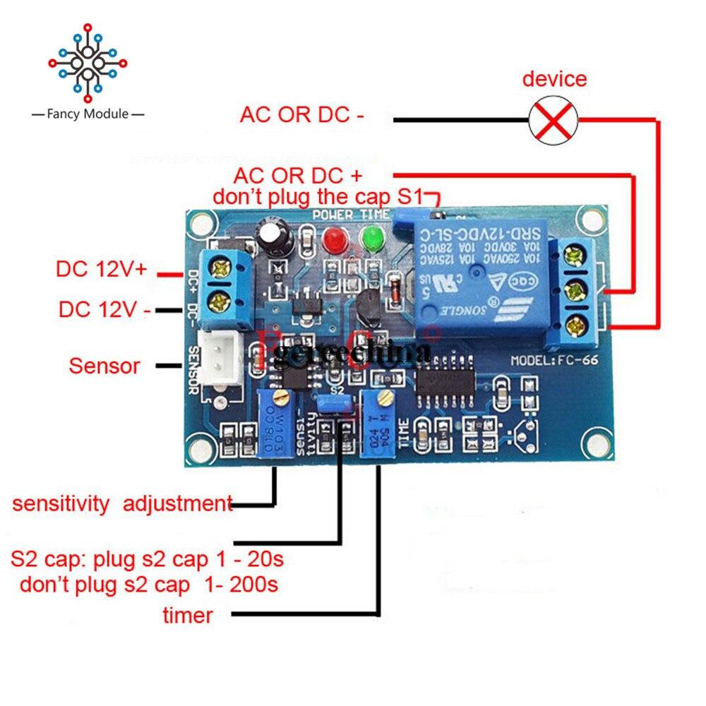 Light Detect Sensor 12V Photoresistor Relay With Timmer Light Control Module M