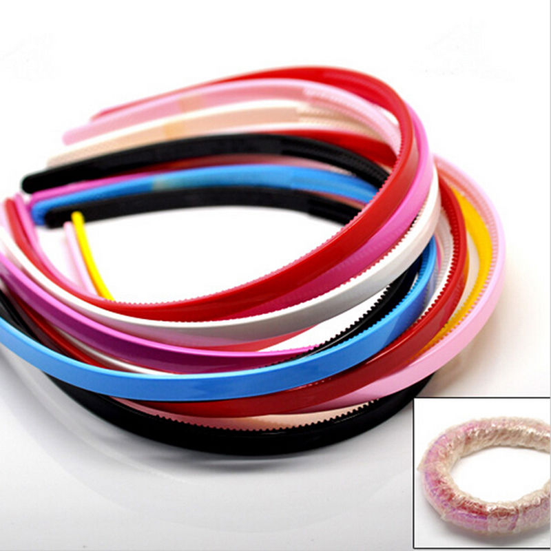 3pcs Simple Design Teeth Candy Color Headbands Plastic
