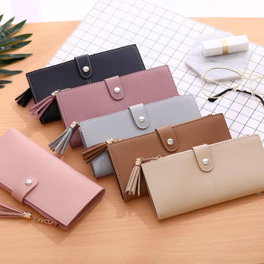 Maison Fabre Wallet Women Simple Long Wallet Tassel Coin Purse Card Holders Handbag Drop Shipping 2018f7