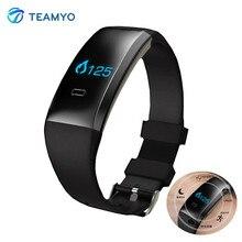 Teamyo в2 bluetooth умный браслет артериального давления смотреть пульс кислорода в крови монитор спорт браслет с шагомером удаленной камеры