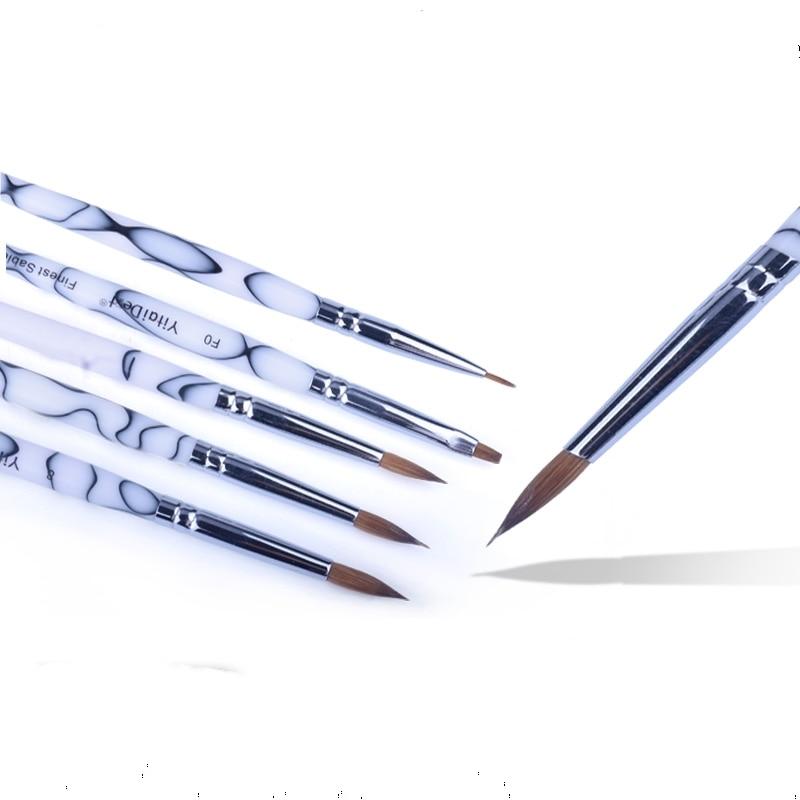5pcs High Quality Dental Lab Porcelain Ceramic Ermine Brush Pen Set Tool Dental Lab Ceramist Brush