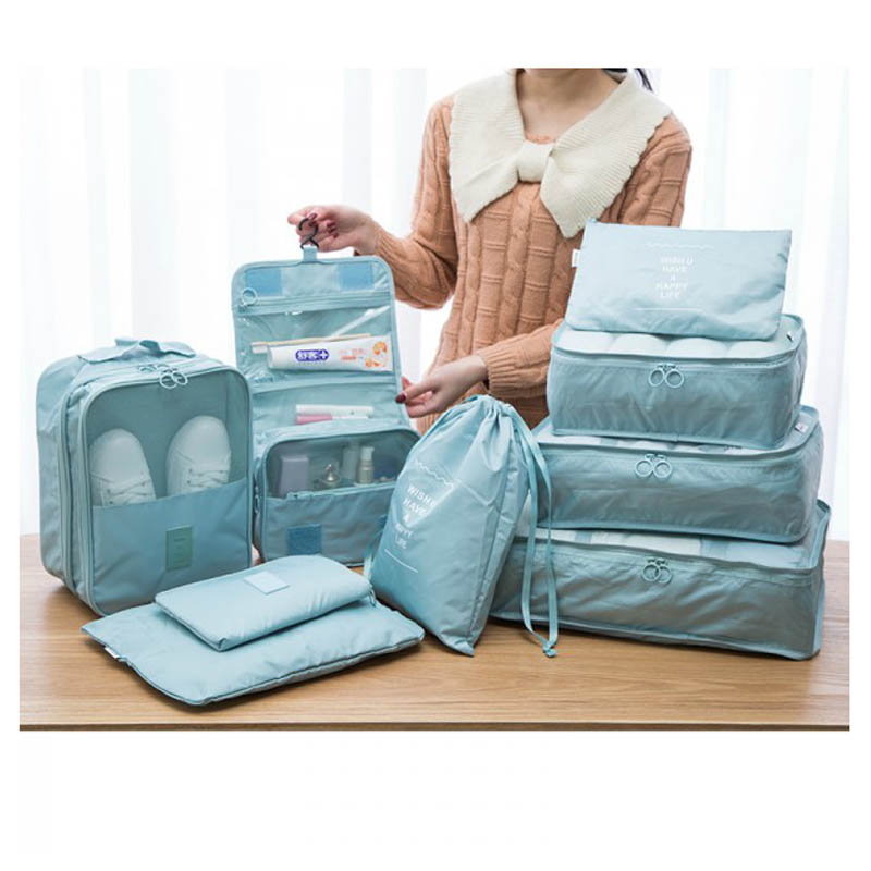 9pcs Travel Packing Cube Underwear Baggage Shoes Clothes Organizer Cases Waterproof Travel Bags Finishing bag Travel accessories ...