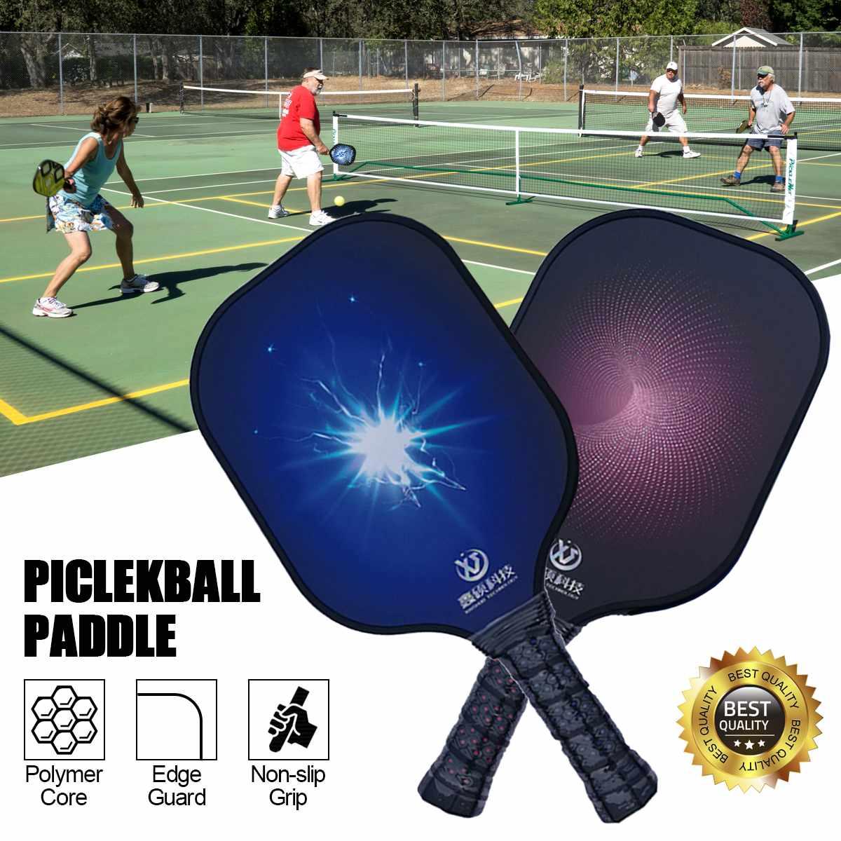 Lightweight Pickleball Paddles Grip Carbon Fiber Polymer Honeycomb Core Sports Protective Gear Beat Racquet Women Men 1/2 PCS