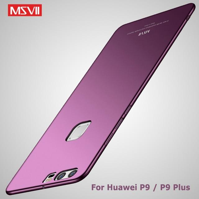 MSVII Trường Hợp Cho Huawei P9 Bao Da Ốp Lưng Cho Huawei P9 Plus Ốp Lưng P 9 Lite Silm Mờ TÍNH Bao Coque dành cho Huawei P9 Lite Ốp Điện Thoại
