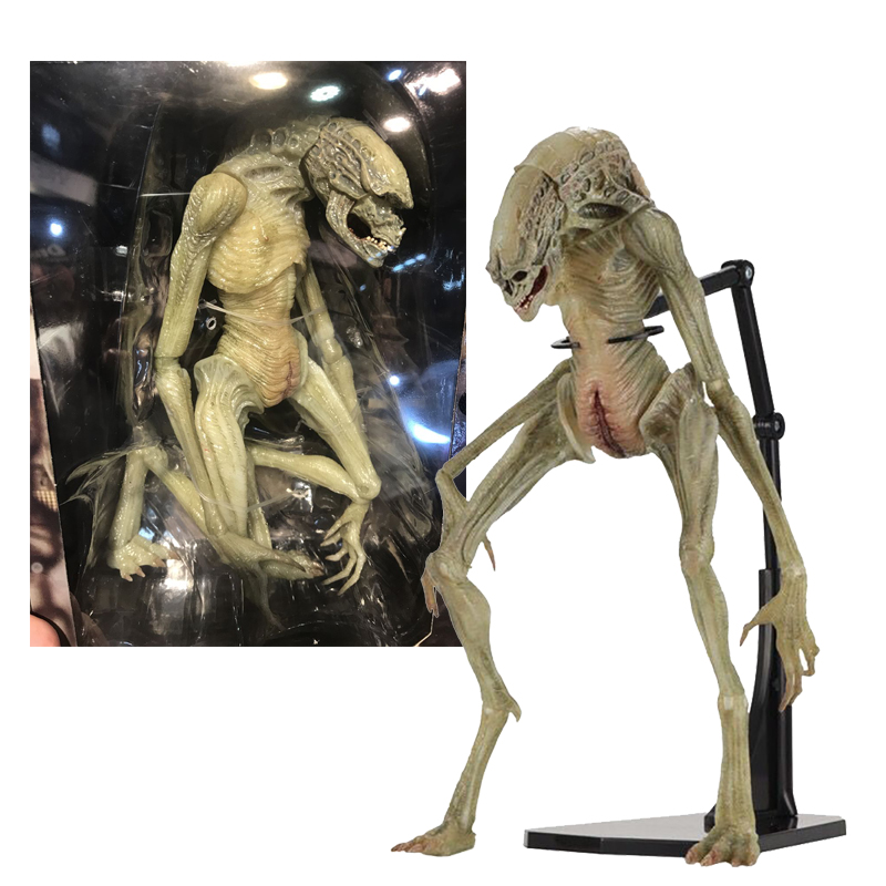 Original NECA <font><b>Aliens</b></font> Vs Predator Figure <font><b>Alien</b></font> Resurrection Delune Newborn Action Figure Toy Doll Gift image