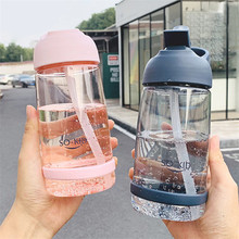 School Water Bottles with Straw Bpa Free Plastic Bottle for