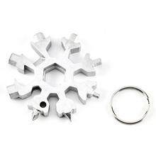 18-in-1 Multi-tool Card Combination Compact and Portable Outdoor Products Snowflake Tool Camping Hiking Edc
