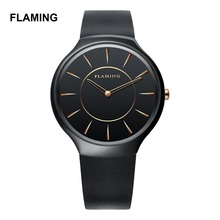 FLAMING Ceramic Series Luxury 4 Models Miyota Quartz Watches Men Super Wristwatches with Ceramic Case Gifts